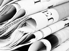 Opgevouwen kranten